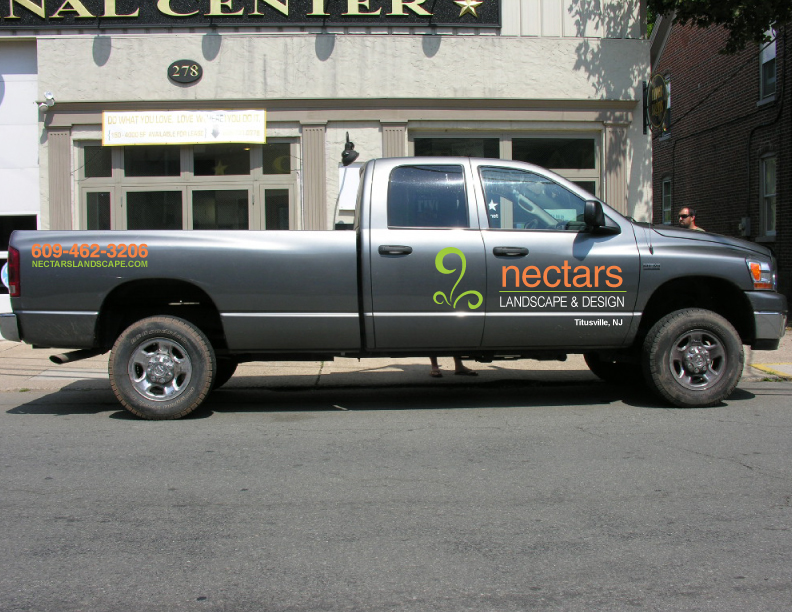 nectars landscaping titusville nj this logo and lettering was digitally printed on